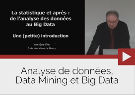 Analyse de données, Data Mining et Big Data