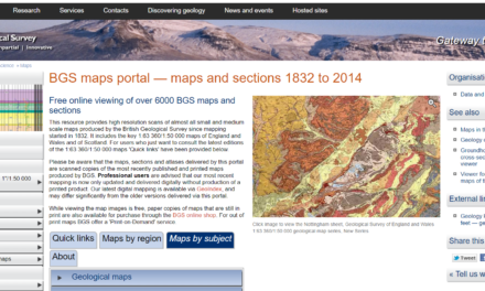 BGS maps portal — maps and sections 1832 to 2014