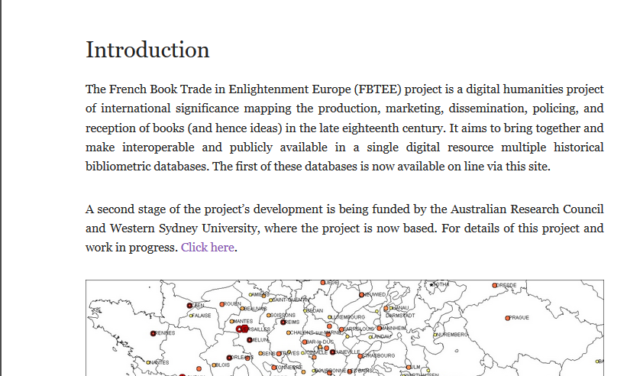 FBTEE: The French Book Trade in Enlightenment Europe. Mapping the Trade of the Société Typographique de Neuchâtel, 1769-1794