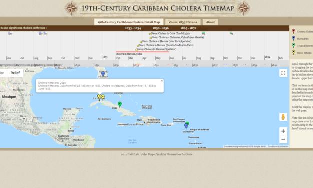 19th-Century Caribbean Cholera Detail Map