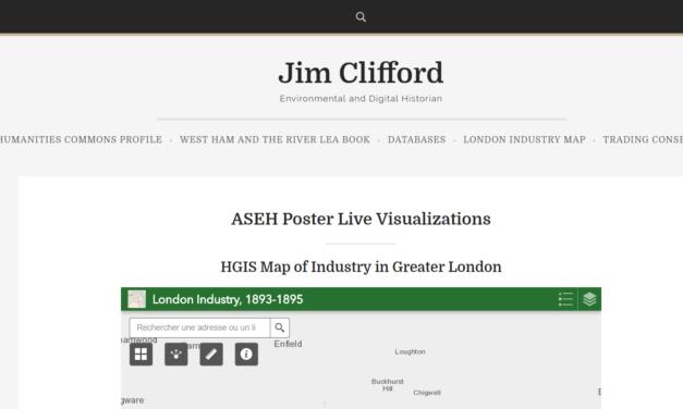 Jim Clifford, Environmental and Digital Historian