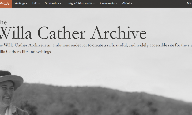 Mapping a Writer's World A Geographic Chronology of Willa Cather's Life
