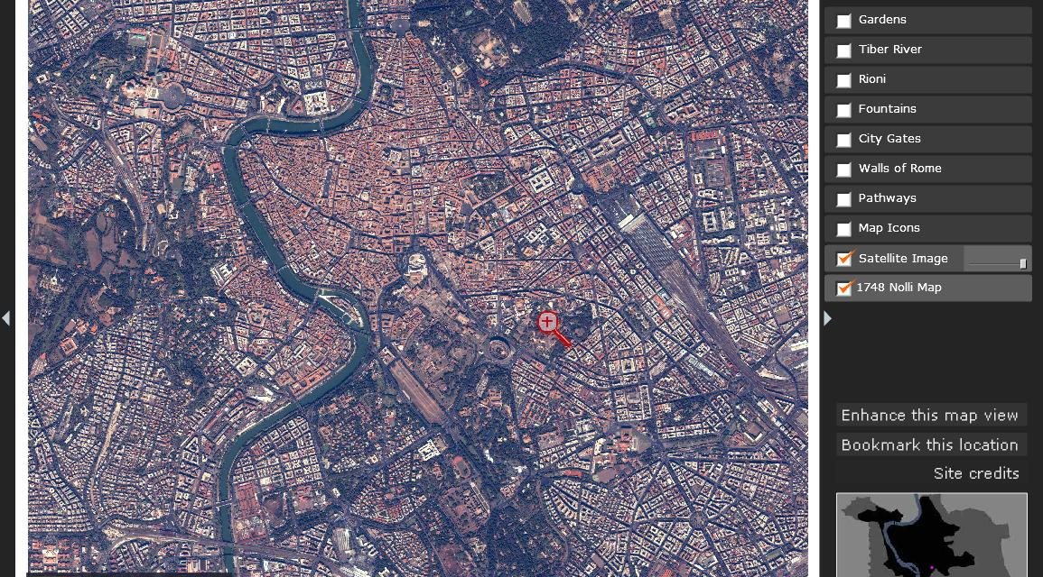 The Nolli Map Website