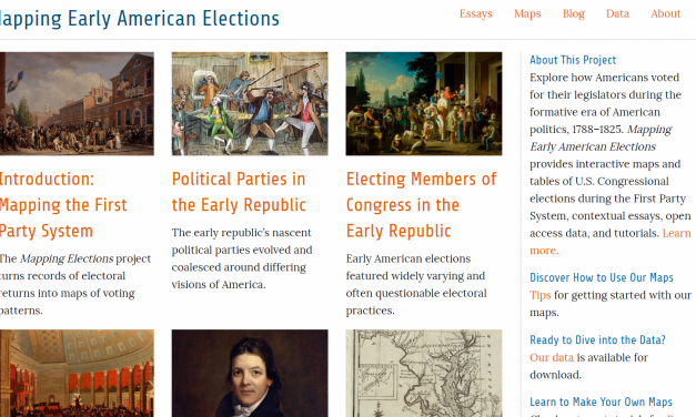 Mapping Early American Elections